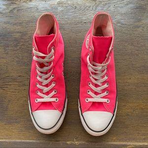 Converse Pink High Top Sneakers 8 Men 10 Women